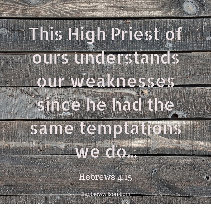 This High Priest of ours understands our weaknesses since he had the same temptations we do...(2)